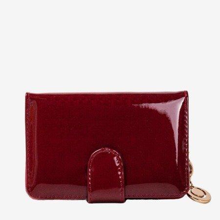 Лакований маленький жіночий гаманець у бордовому гаманці - Гаманець 1
