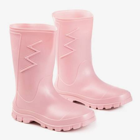 Матовий гумовий рожевий одяг з тканини Taif - Wellies 1