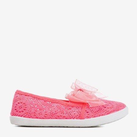 Неонові рожеві дитячі кросівки Натанія - Взуття 1