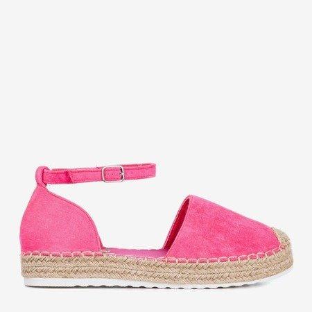 Неонові рожеві еспадриси на платформі Citiva - Взуття 1