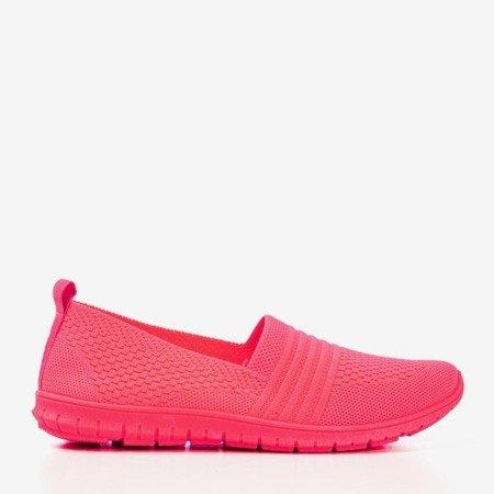 Неонові рожеві жіночі строкаті кросівки - Взуття 1
