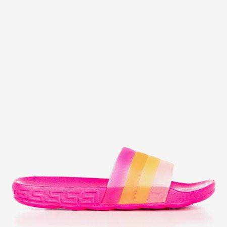 Неонові рожеві жіночі тапочки Флорінда - Взуття