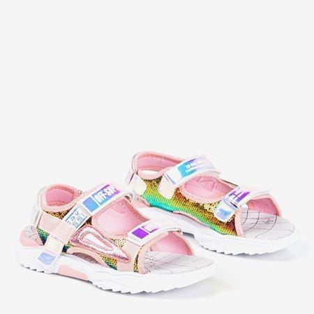 Ніжно-рожеві дитячі босоніжки Frida - Взуття
