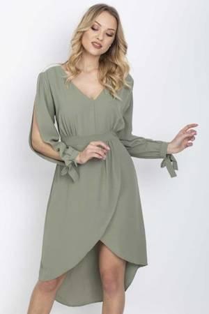 Плаття Хакі з декоративними вирізами - Одяг 1