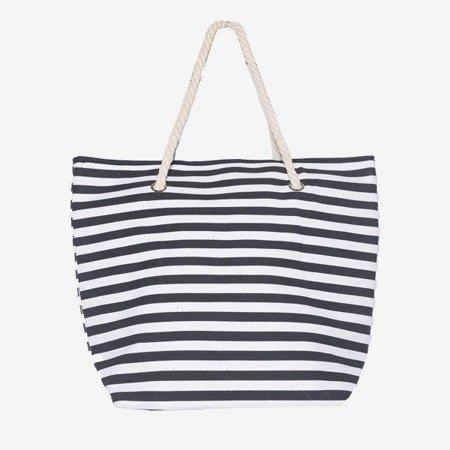 Пляжна сумка чорна смугаста - Сумки