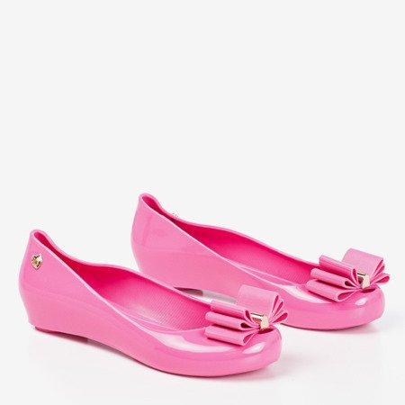 Рожеві Меліски з бантом Тиріка - Взуття