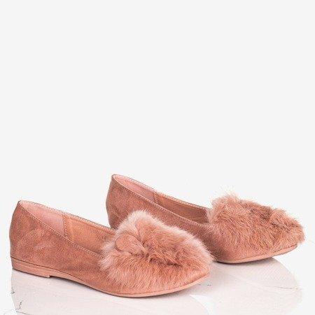 Рожеві жіночі балерини з хутром та вушками Дар'я - Взуття