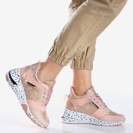 Рожеві жіночі спортивні кросівки на клині Acanta - Взуття 1