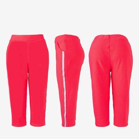 Рожеві короткі гетри з смужками - Штани 1