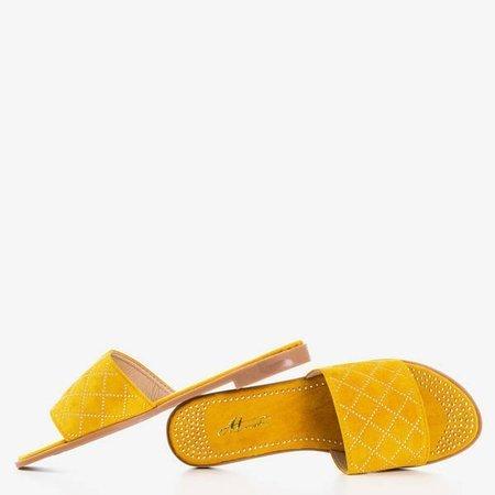 Сандалі з гірчицею із золотими струменями Біллі - Взуття