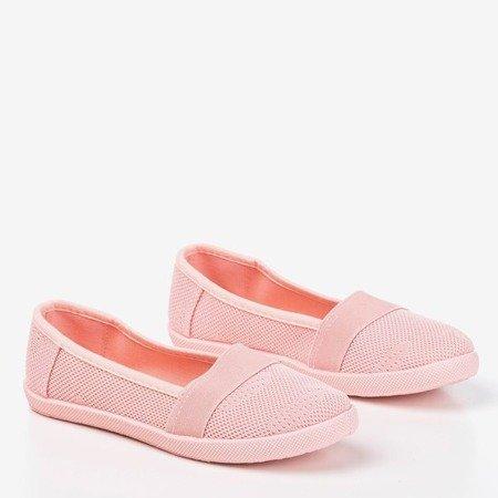 Світло-рожеві дівчачі ажурні накладки Lucida- Взуття