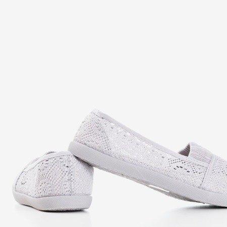 Світло-сірі балетки на шнурку Noremies - Взуття