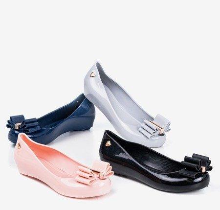 Світло-сірі меліски з бантиком Тиріка - Взуття