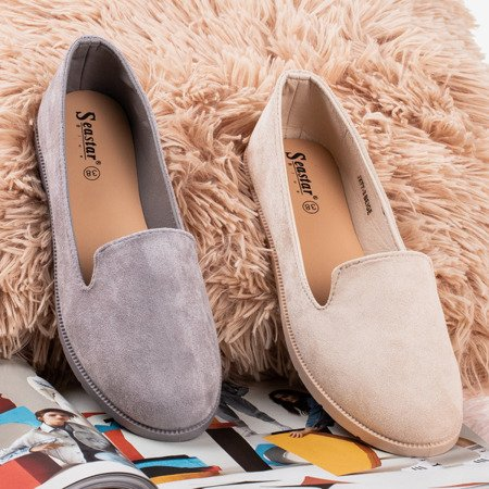 Світло-сірі мокасини з еко-замші Mossolia - Взуття 1