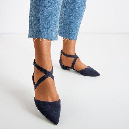 Сині босоніжки на низьких підборах Філадельфія - Взуття 1