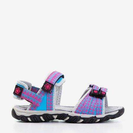 Сині дитячі босоніжки з рожевими вставками Yoci - Взуття 1