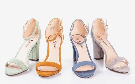 Сині жіночі босоніжки на пошті Солодкий мед - Взуття 1