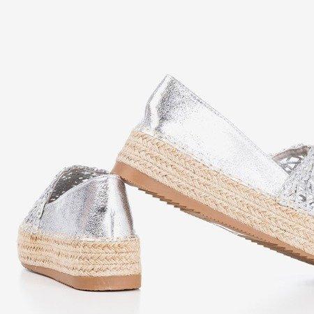 Срібні еспадрільї на платформі Lepusa - Взуття