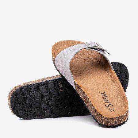 Сірі жіночі шльопанці з пряжкою Mosiu - Взуття 1