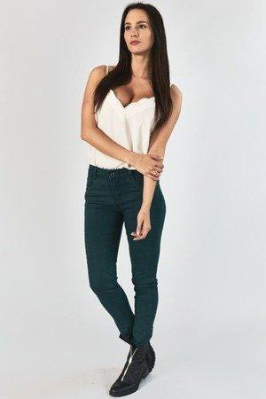Темно-зелені жіночі джинсові труси з блискавками - Одяг 1
