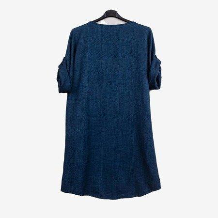 Темно-синя жіноча туніка з написом - Блузки 1