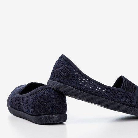 Темно-сині балетки з мереживом Норемії - Взуття