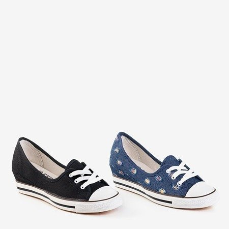 Темно-сині джинсові туфлі a'la клинкові кросівки Anplus - Взуття 1