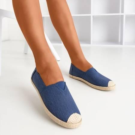 Темно-сині еспадрильї з текстильного матеріалу Timsaio - Взуття