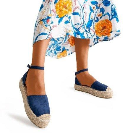 Темно-сині жіночі еспадрилі на платформі Maritel - Взуття