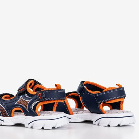 Темно-сині та оранжеві хлопчачі сандалії Ханой - Взуття