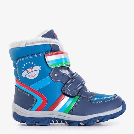Темно-сині чоботи для снігу для хлопчиків із вставками з кількома ребрами від Wirtol - Взуття
