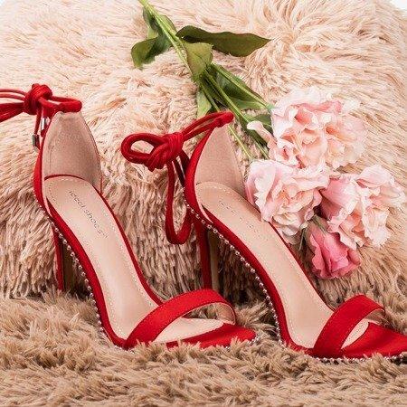 Червоні босоніжки на зав'язку Taya - Взуття 1