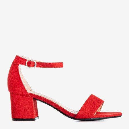 Червоні босоніжки на низьких підборах Бірма - Взуття 1