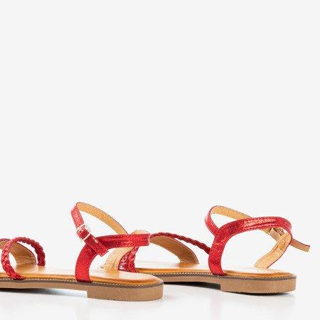 Червоні жіночі босоніжки з цирконами Afina - Взуття