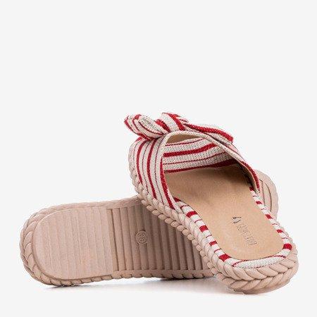 Червоні жіночі сандалі в смужку Calina - Взуття
