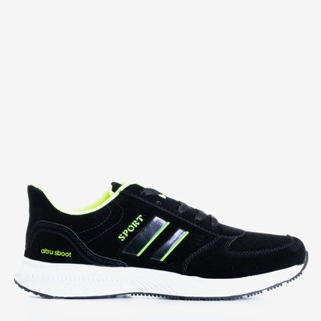 Чоловічі кросівки-кросівки чорні та зелені - взуття