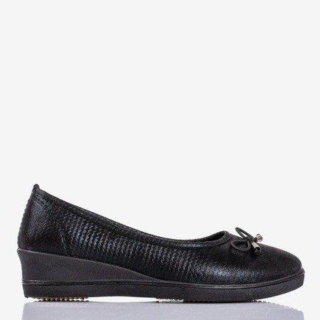 Чорні балетні насоси Moriah клини - Взуття 1