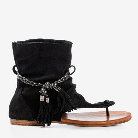 Чорні босоніжки на хвостовику Semara - Взуття