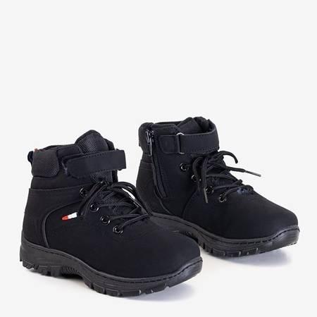Чорні дитячі чорні утеплені черевики черевики Miuoch - Взуття