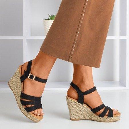 Чорні жіночі босоніжки на клині Сіріма - Взуття 1