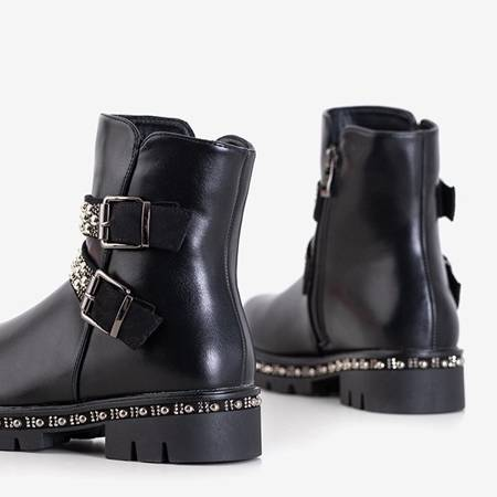 Чорні жіночі черевики в декоративні смужки Hutimo - Взуття