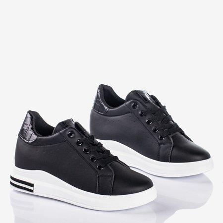 Чорні кросівки Sliomena клин - Взуття 1