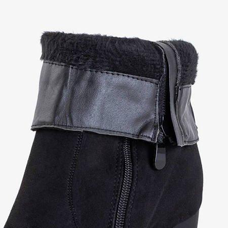 Чорні черевики на високій стійці з прикрасами Machiko - Взуття