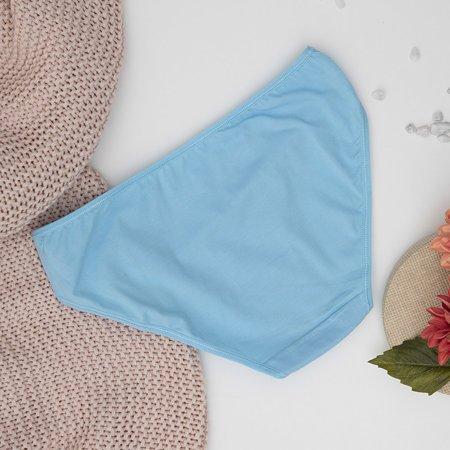 Блакитні жіночі бавовняні труси PLUS SIZE - Нижня білизна