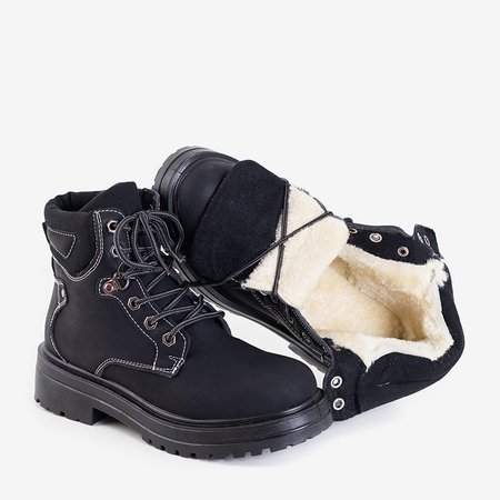 Чорні жіночі утеплені черевики Paventia - Взуття