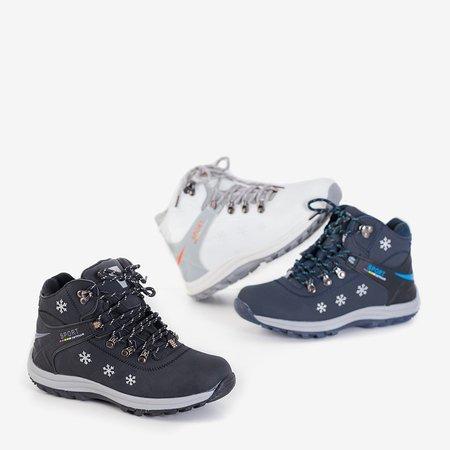Чорні жіночі утеплені черевики з орнаментом Aliza - Взуття