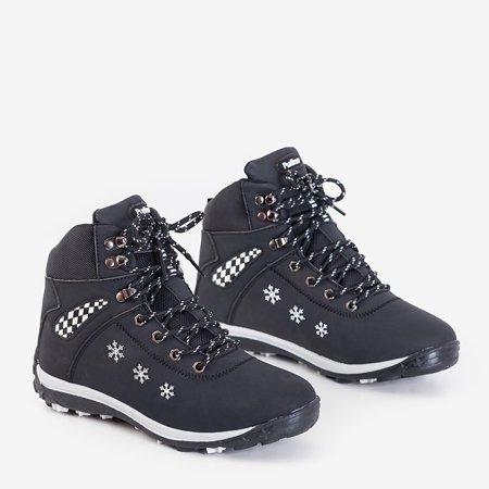 Чорні жіночі зимові черевики зі сніжинками Sniesavo - Взуття