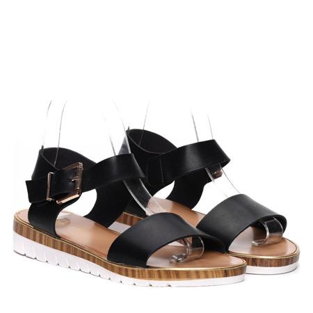 Czarne sandałki Julie- Obuwie