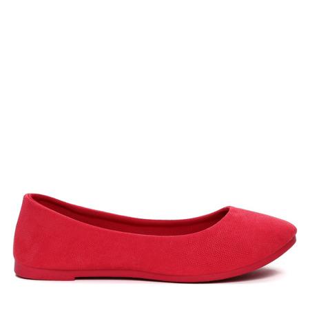 Czerwone balerinki- Obuwie