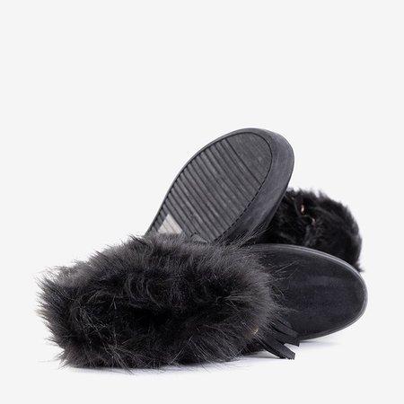 OUTLET Жіночі чорні снігові черевики з прикрасами Astride - Взуття
